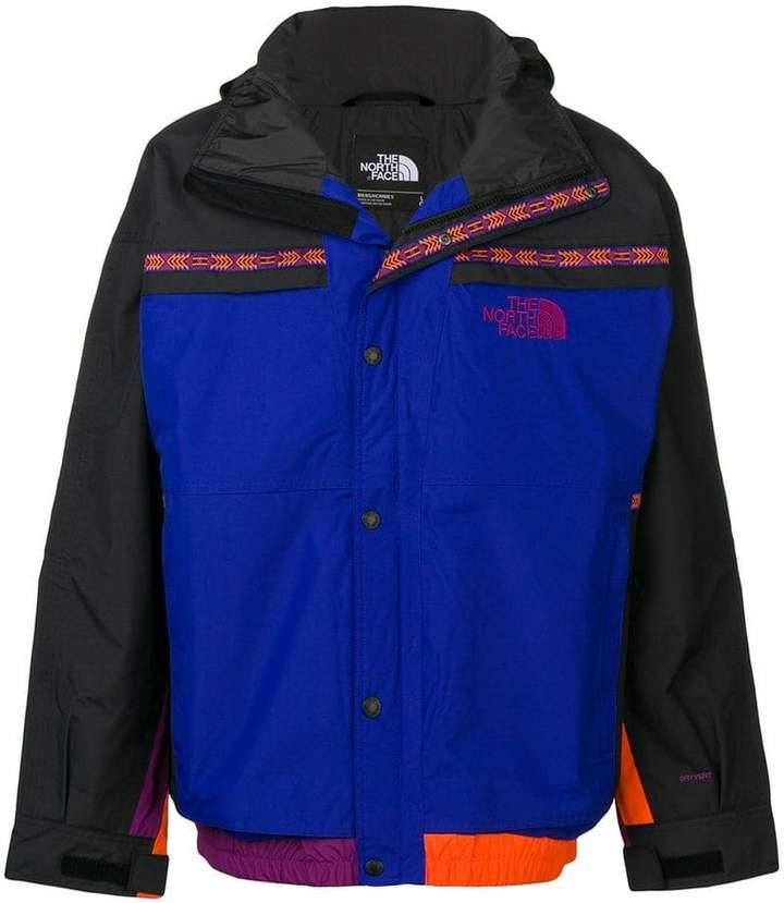 The North Face colour block rain jacket