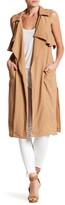June & Hudson Ruffle Tie Coat
