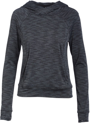 YOGALICIOUS Women's Sweatshirts and Hoodies CHRSD - Charcoal Variegated Hooded Long-Sleeve Top - Women