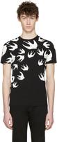 McQ by Alexander McQueen Black Swallows T-Shirt