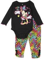Disney Black Minnie Mouse 'Wild at Heart' Bodysuit & Leggings