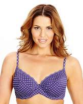 Shapely Figures 2 Pack Wired Plunge Latte Purple Bra