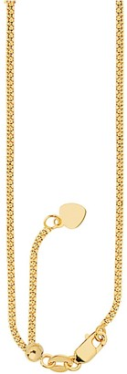 "Saks Fifth Avenue 14K Yellow Gold Popcorn Chain Heart Necklace/18"" x 1mm"