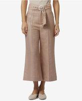 Avec Les Filles High-Waisted Wide-Leg Crop Pants