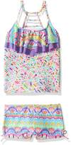 Vigoss Big Girls' Candy Land Two Piece Tankini Ladder Back Swimsuit