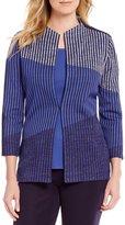Misook Stand Collar Novelty Jacket