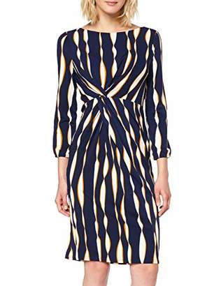 APART Fashion Women's Printed Dress Multicolour Midnightblue-Multicolor, (Size: 46)