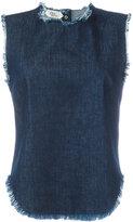 Cycle sleeveless frayed denim top - women - Cotton - L