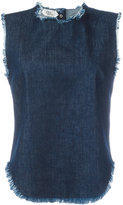 Cycle sleeveless frayed denim top - women - Cotton - S