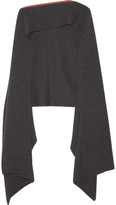 Stella McCartney Ribbed Wool Scarf - Charcoal