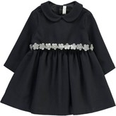 Il Gufo Claudine Collar Dress with Flower Belt
