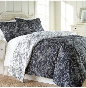 SouthShore Fine Linens Reversible Floral Duvet and Sham Set Bedding