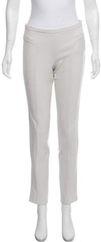 Emporio Armani Mid-Rise Skinny Pants Grey Mid-Rise Skinny Pants