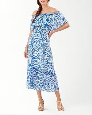 Tommy Bahama Callis Calypso Off-the-Shoulder Midi Dress