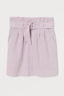 H&M Twill paper bag skirt