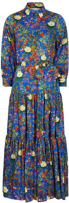 Borgo de Nor Clarissa Floral-print Cotton-poplin Shirt Dress