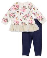 Little Me Infant Girl's Floral Top & Leggings Set