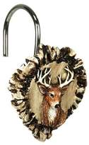 RiversEdge Products Rivers Edge Products Antler and Deer Shower Curtain Hook Set