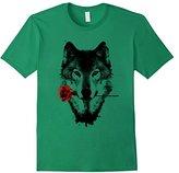 Big Graphic Bad's Wolf rose T-Shirt