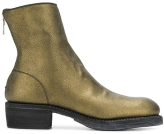 Guidi Metallic Ankle Boots