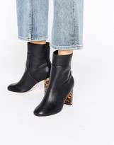 Miss Selfridge Contrast Heel Ankle Boots