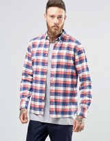 Penfield Beresford Check Button Shirt In Regular Fit Brushed Cotton