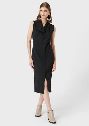 Giorgio Armani Jacquard Pinstriped Dress