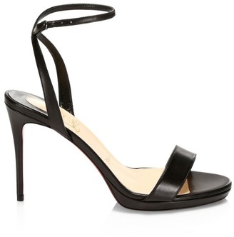 Christian Louboutin Loubi Queen Leather Ankle-Strap Sandals