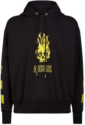 Diesel Skull Cotton Hoodie