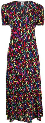 M Missoni Abstract Print Crepe Dress