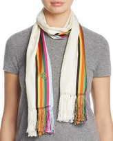 Tory Burch Soul Stripe Silk Oblong Scarf