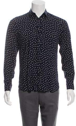 Saint Laurent Polka Dot Silk Shirt w/ Tags