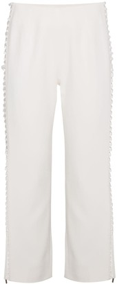 Jonathan Simkhai Cropped Trousers with Side Laces
