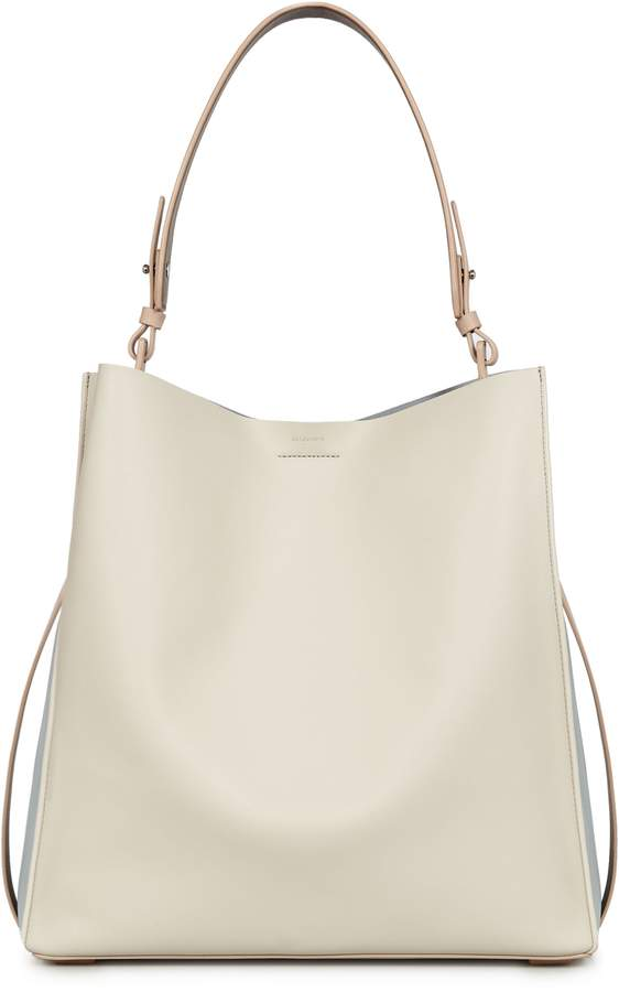AllSaints Paradise North/South Calfskin Leather Tote