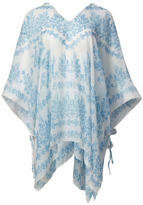 Calvin Klein Women's Bandana Print 100% Polyester Lightweight Cover Up