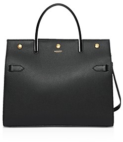 Burberry Medium Leather Title Bag