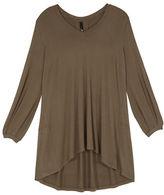 Melissa McCarthy Plus Solid Blouson Sleeve Top
