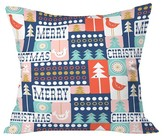 "DENY Designs Christmas Collage Chill Throw Pillow Multi-Colored (20"" x 20"