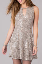 Others Follow Silver Bliss Lace Dress