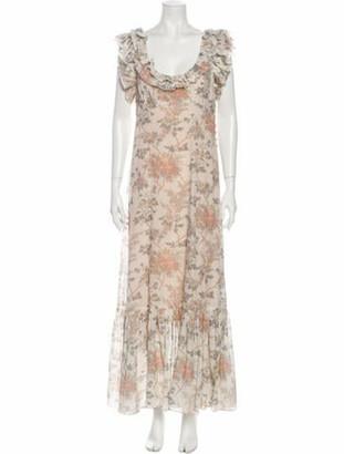DÔEN Floral Print Long Dress Floral Print Long Dress