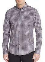 Ben Sherman Slim-Fit Dot Check Cotton Sportshirt
