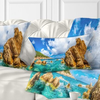 PARADISO Seashore Costa Close View Lumbar Pillow East Urban Home