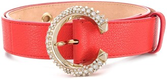 Jimmy Choo Madeline crystal-embellished belt
