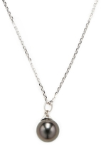 14K White Gold & Tahitian Pearl Pendant Necklace