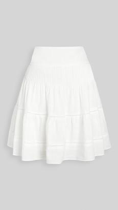 Madewell Smocked Back Miniskirt