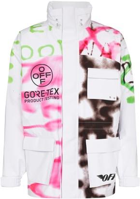 Off-White Goretex graffiti print ski jacket