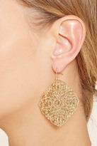 Forever 21 Floral Filigree Drop Earrings