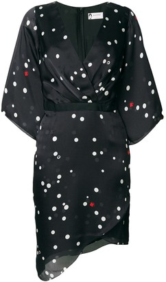 Lanvin polka-dot wrap dress