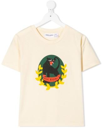 Mini Rodini panther-print crew-neck T-shirt