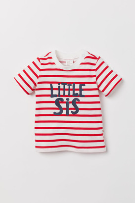 H&M T-shirt with Printed Text - Red
